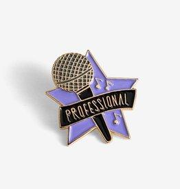 ''Karaoke Professional'' Enamel Pin - The Good Twin