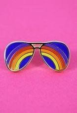 Valley Cruise Press ''Rainbow Sunglasses'' Enamel Pin - Valley Cruise Press