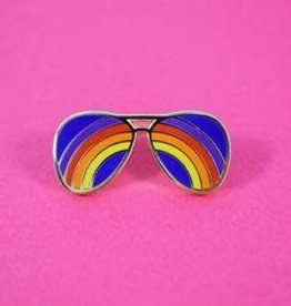 Valley Cruise Press ''Rainbow Sunglasses'' Enamel Pin - Valley Cruise Press