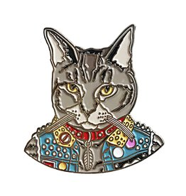 Berkley Illustration ''Punk Cat'' Animal Portrait Enamel Pin - Ryan Berkley