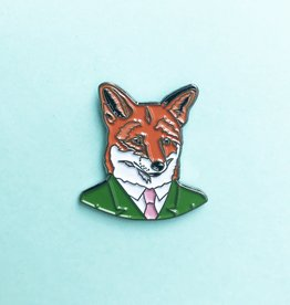 Berkley Illustration ''Fox Fellow'' Animal Portrait Enamel Pin - Ryan Berkley
