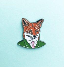 Berkley Illustration ''Fox Fellow'' Animal Portrait Enamel Pin - Ryan Berkley
