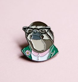 Berkley Illustration ''Sloth lady'' Animal Portrait Enamel Pin - Ryan Berkley