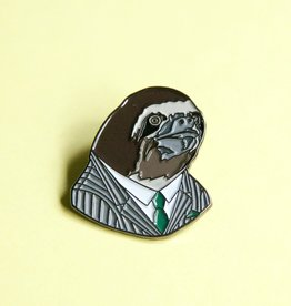 Berkley Illustration ''Sloth Fellow'' Animal Portrait Enamel Pin - Ryan Berkley