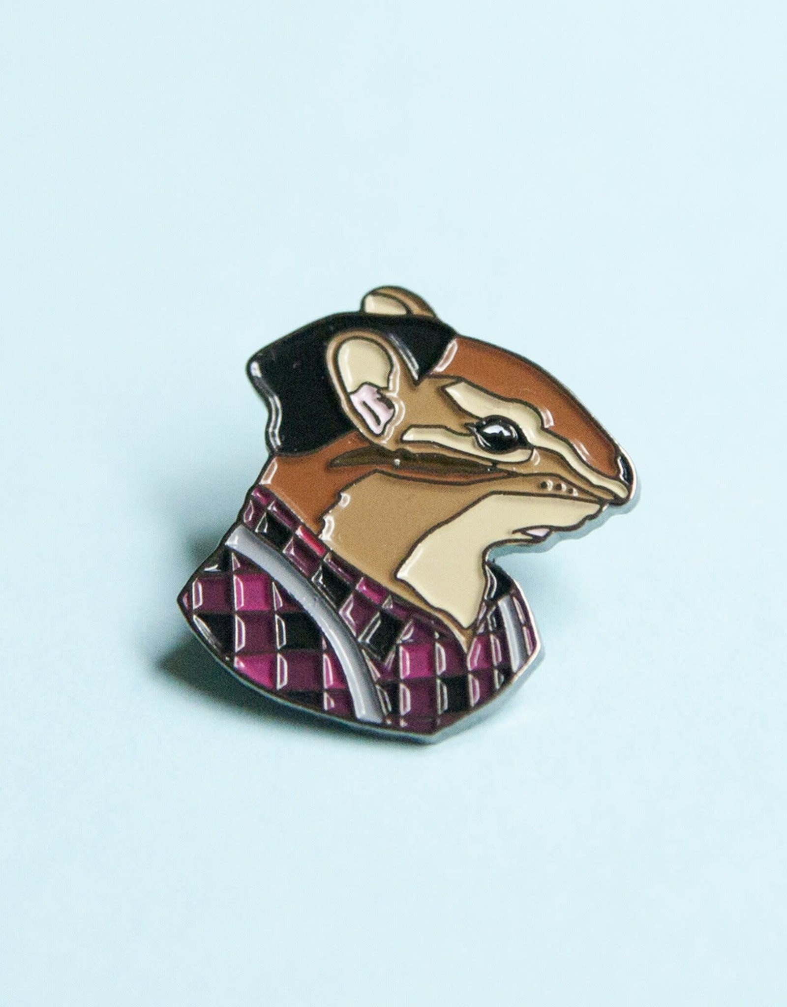 Berkley Illustration ''Chipmunk Fellow'' Animal Portrait Enamel Pin - Ryan Berkley