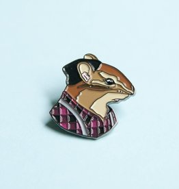 Berkley Illustration ''Chipmunk Fellow'' Animal Portrait Enamel Pin - Ryan Berkley