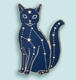 Bee's Knees Industries ''Celestial Cat'' Enamel Pin - Bee's Knees