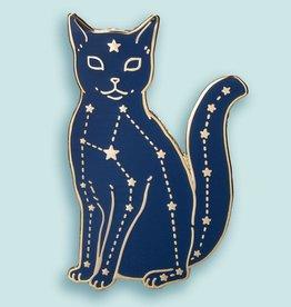 ''Celestial Cat'' Enamel Pin - Bee's Knees