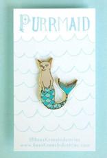 Bee's Knees Industries ''Purrmaid'' Mermaid Cat Enamel Pin - Bee's Knees