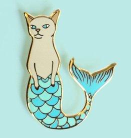 ''Purrmaid'' Mermaid Cat Enamel Pin - Bee's Knees