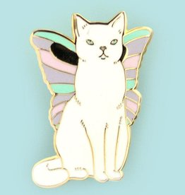 Bee's Knees Industries ''Catterfly'' Butterfly cat Enamel Pin - Bee's Knees