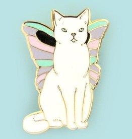 ''Catterfly'' Butterfly cat Enamel Pin - Bee's Knees