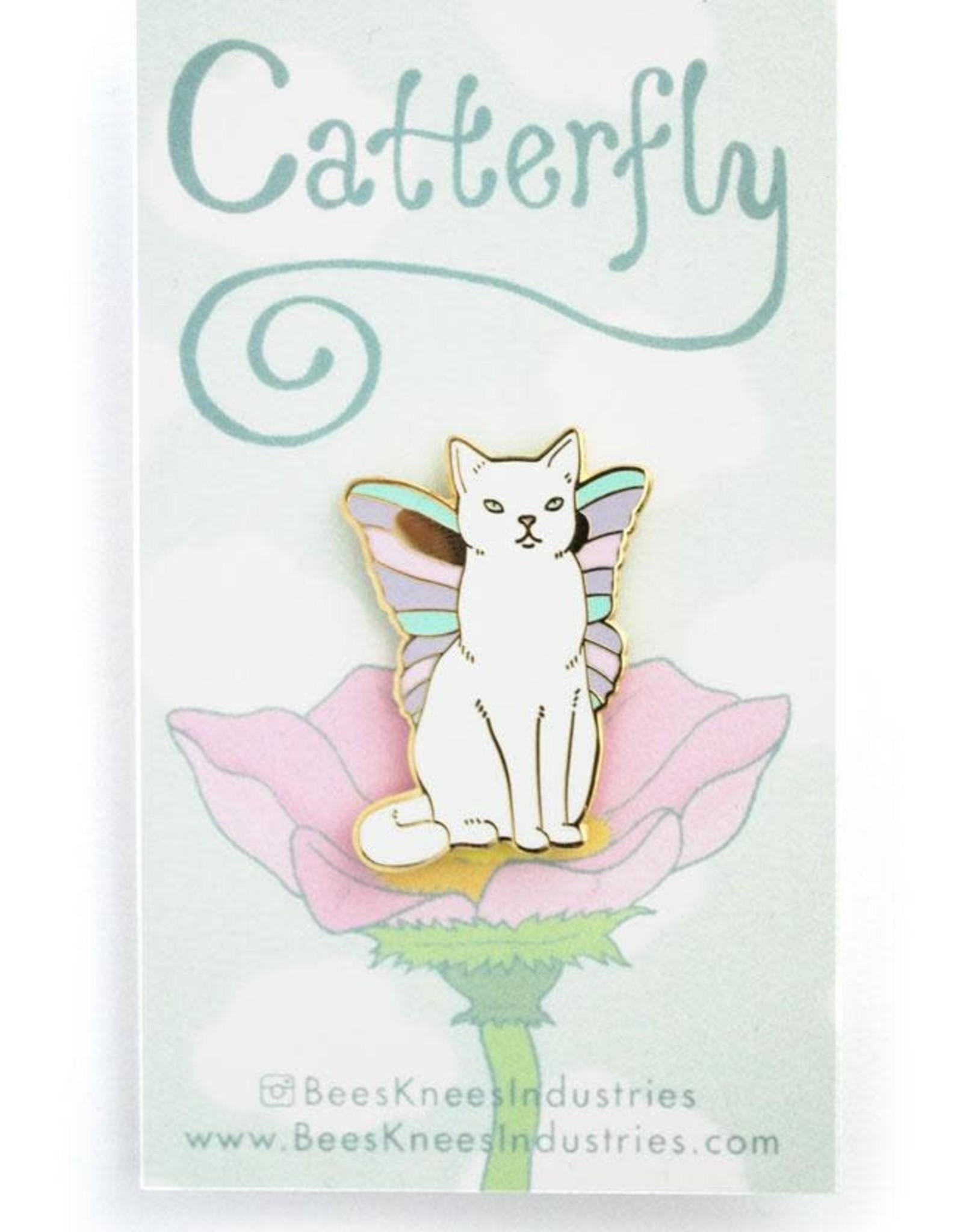 Bee's Knees Industries ''Catterfly'' Butterfly cat Enamel Pin - Bee's Knees