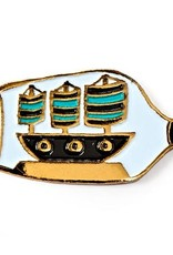 Badgebomb ''Ship in a Bottle'' Enamel Pin - by Badge Bomb