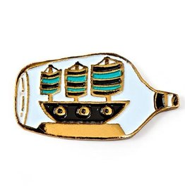 Badgebomb ''Ship in a Bottle'' Enamel Pin - by Badge Bomb