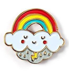 ''Rainbow'' Enamel Pin by Gemma Correll
