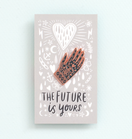 ''The Future is Yours'' Hand Enamel Pin - Egg Press