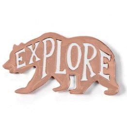 Badgebomb ''Explore Bear'' Enamel Pin by Badge Bomb