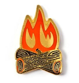''Campfire'' Enamel Pin - by Allison Cole