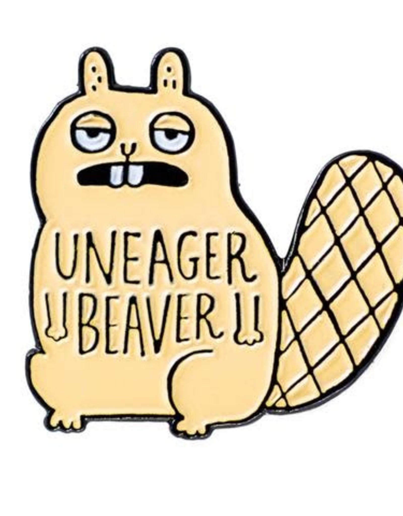 Gemma Correll ''Uneager Beaver'' Enamel Pin by Gemma Correll