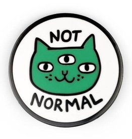 ''Not Normal Cat'' Enamel Pin by Gemma Correll