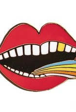 ''Rainbow Tongue'' Enamel Pin by Lisa Congdon