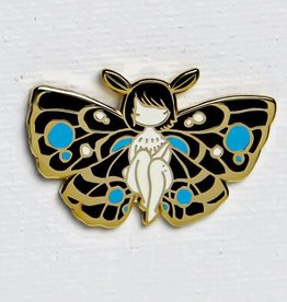 "Stasia Burrington ""Moth Girl"" Enamel Pin  - Stasia Burrington"