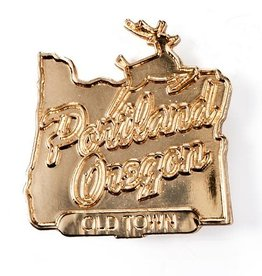 Badgebomb ''Made in Oregon'' Portland - Gold Pin by Badgebomb