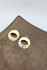 Amaree and Reese Eye Shape Earrings Lasercut Brass