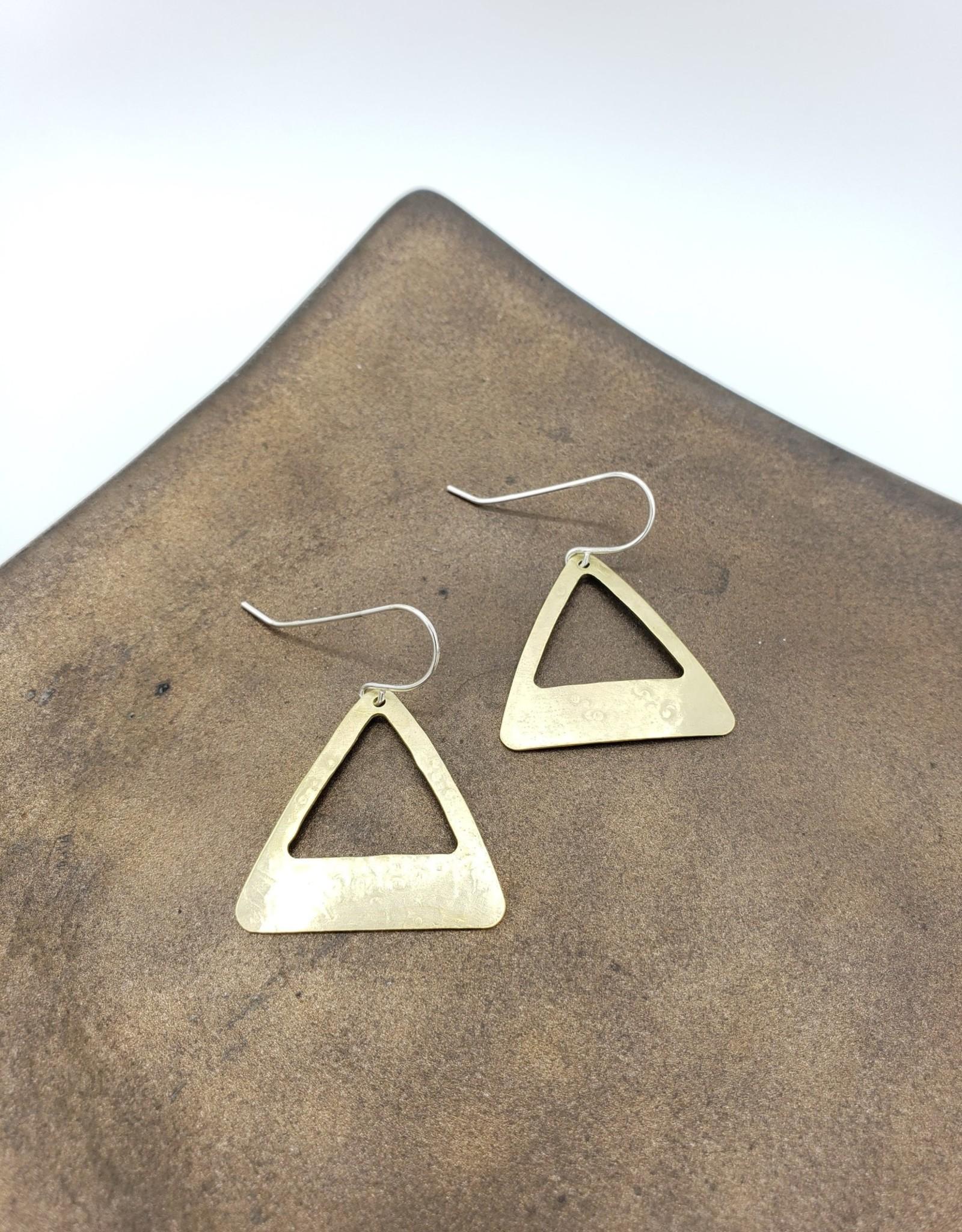 Amaree and Reese Lasercut Brass U shape cutout Earrings