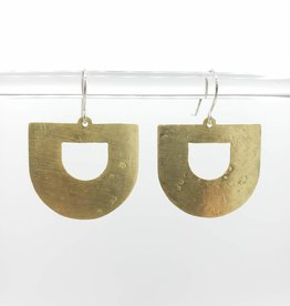 Amaree and Reese Lasercut Brass U shape Earrings