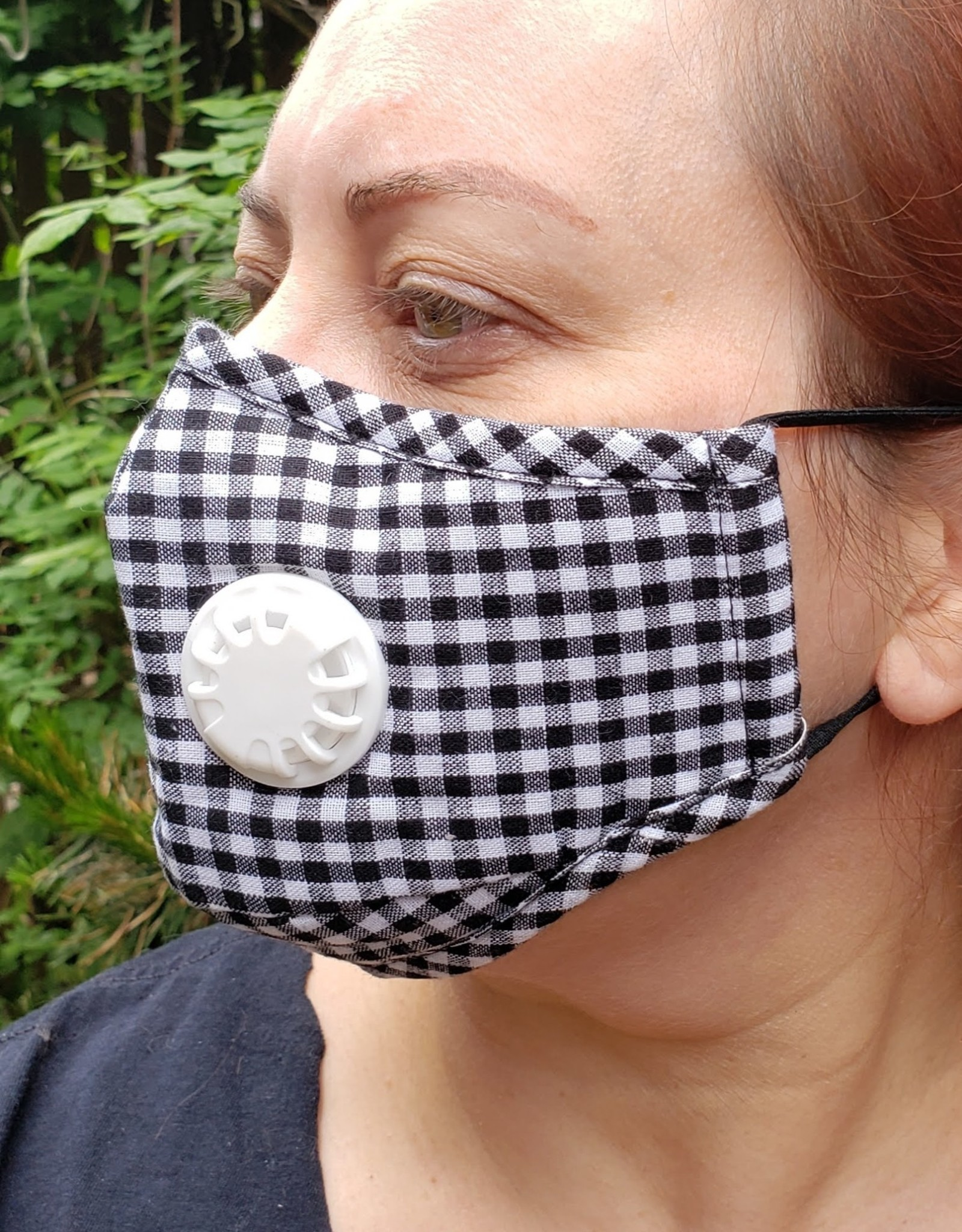 Unisex Cotton Face Mask with Built in Vent Valve
