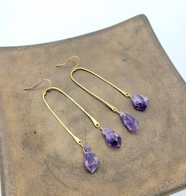 Kirsten Elise Jewelry Arch Earrings with Amethyst