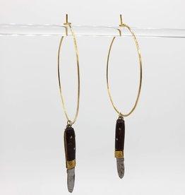 Kirsten Elise Jewelry Vintage Knife Hoop Earrings