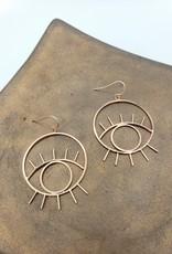 Kirsten Elise Jewelry Rose Gold Eye Earrings