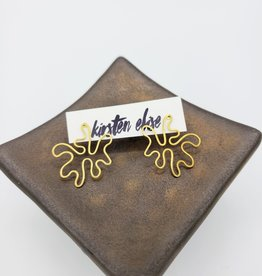 Kirsten Elise Jewelry Splat Earrings in Brass