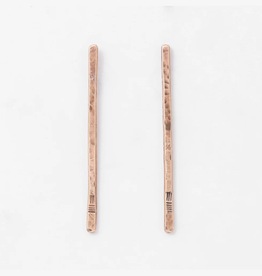 From the Reliquary Brass Trace Post Earrings - From the Reliquary