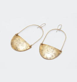 From the Reliquary Brass Shield Bearer Earrings - From the Reliquary