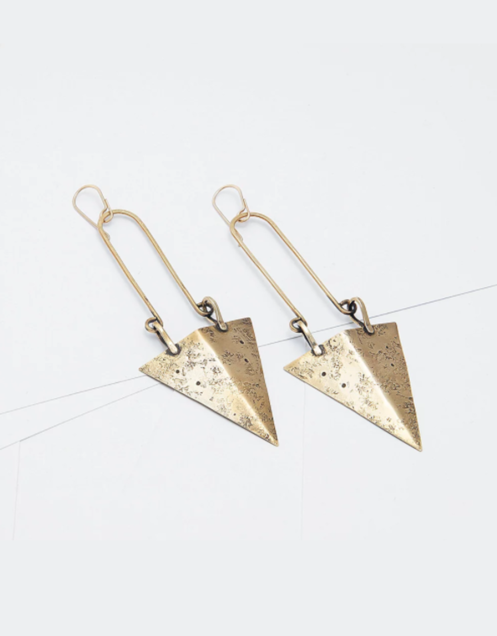From the Reliquary Brass Brigand Earrings - From the Reliquary