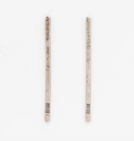 From the Reliquary Sterling Trace Post Earrings - From the Reliquary