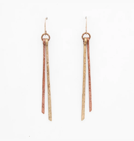 From the Reliquary Brass + Copper Duplus Earrings - From the Reliquary