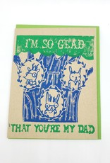 Glad you're my Dad - Happy Father's Day Greeting Card - Ghost Academy
