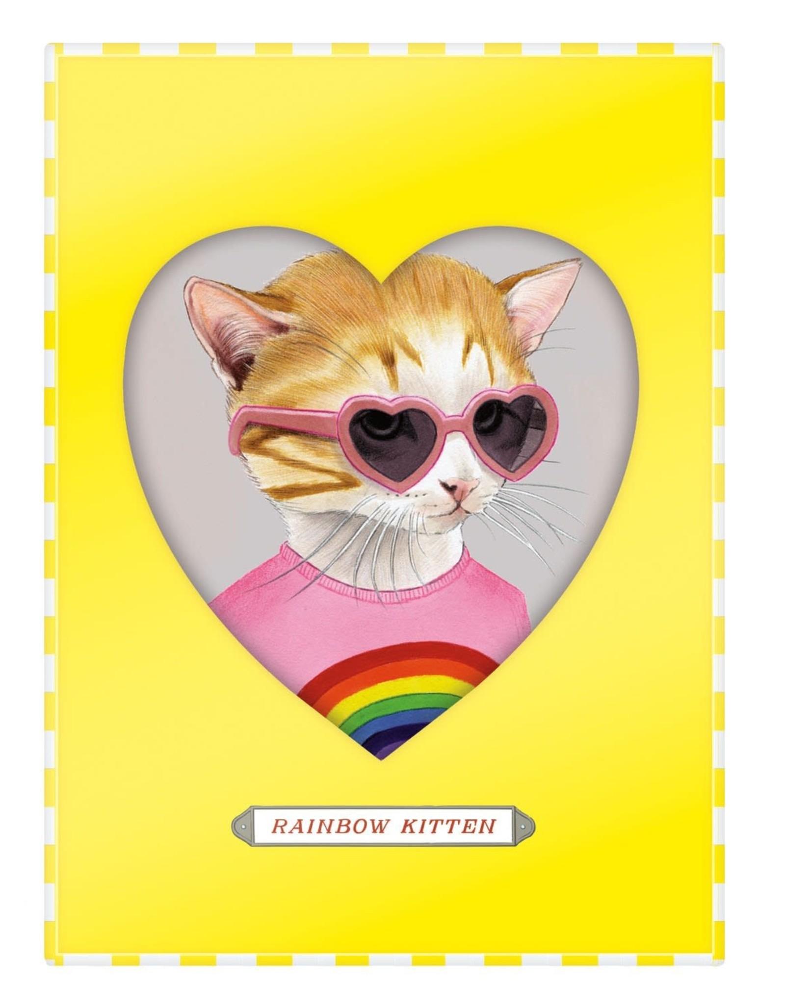 Berkley Bestiary Rainbow Kitten Medium Porcelain Tray
