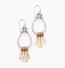 From the Reliquary Sterling Silver + Brass Glint Earrings - From the Reliquary