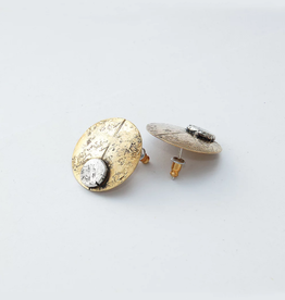 From the Reliquary Brass + Sterling Focus Disk Post Earrings - From the Reliquary