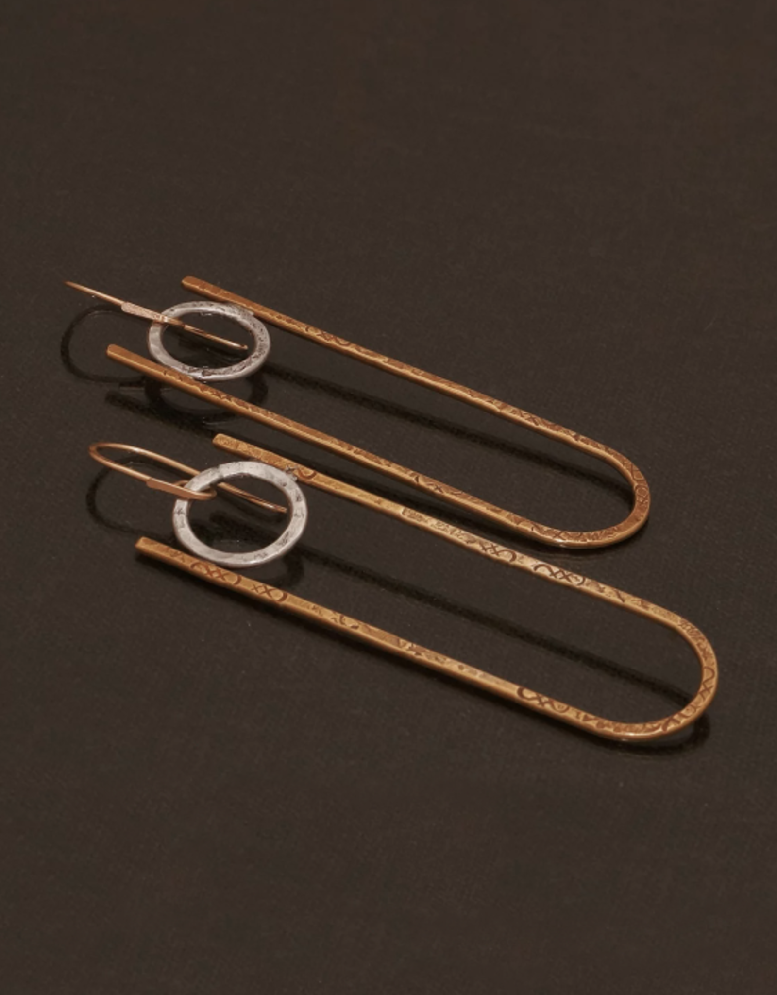 From the Reliquary Brass + Sterling Petra Earrings - From the Reliquary