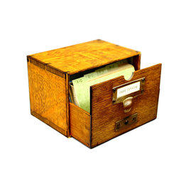Card catalog; 30 notecards