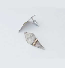 From the Reliquary Sterling Silver Banner Post Earrings - From the Reliquary