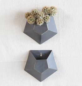 Hexagonal Wall Vase, Single