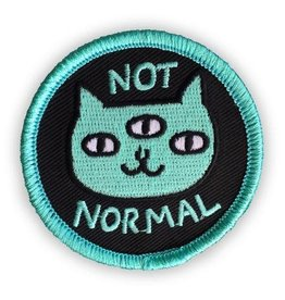"Badgebomb ""Not Normal"" Cat Iron On Patch"
